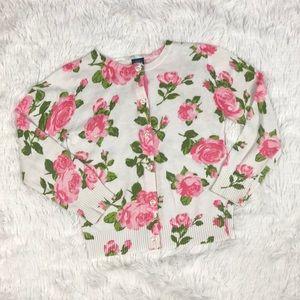 Osh Kosh Floral Cardigan Sweater Girls 6X